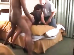 Wife gets bbc gangbang in front of cuck husband